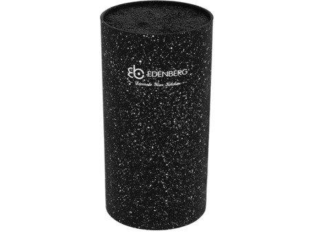 Blok Edenberg EB 5102 B uniwersalny stojak do noży kuchennych czarny marmur