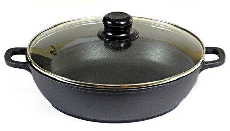 Brytfanna Frico FR 1642- 24 cm 2,5 litra garnek niski indukcja pokrywka