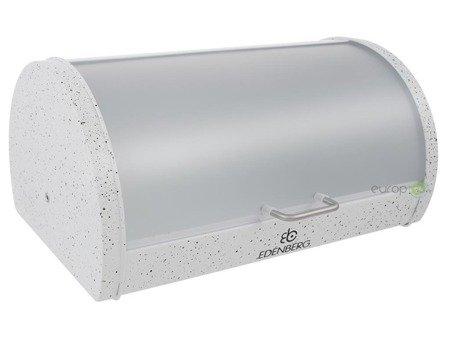 Chlebak Edenberg EB 104 metalowy Pojemnik na pieczywo Biały