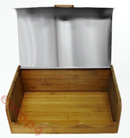 Chlebak drewniany bambus pojemnik MX 1604 WYPRZDAŻ