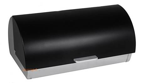 Chlebak stalowy odchylany pojemnik pieczywo czarny Krisberg 7601