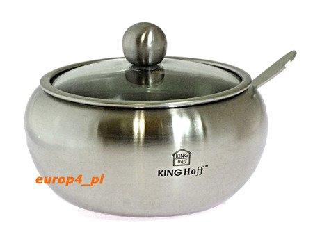 Cukiernica Kinghoff KH 3732 pojemnik na cukier +łyżeczka metal