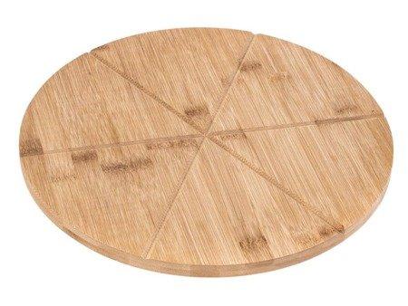 Deska bambusowa do pizzy Kinghoff KH 1565 drewniana mocna 35 cm x 1.5 cm
