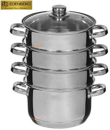 Garnek Edenberg EB 8909 24 cm garnki do gotowania na parze