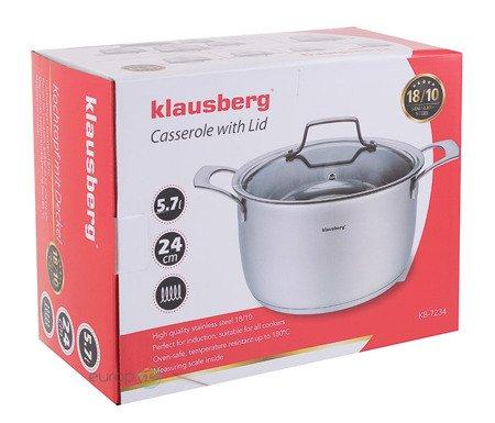 Garnek Klausberg KB 7234 z pokrywką pojemność 5.7 L