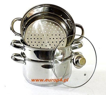 Garnek Saubach SB 2557 18 cm garnki do gotowania na parze