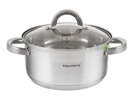 Garnek do gotowania na parze Klausberg KB 7141 22 cm garnki stalowe 4.5 L parowar