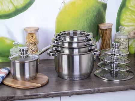 Garnki Hoffner HF 8895 10 zestaw garnków stalowych indukcyjnych