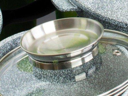 Garnki Klausberg KB 7326 Zestaw garnków marmurowych indukcyjnych