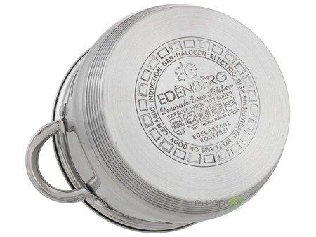Garnki stalowe Edenberg EB 4020 zestaw garnków indukcyjnych + patelnia