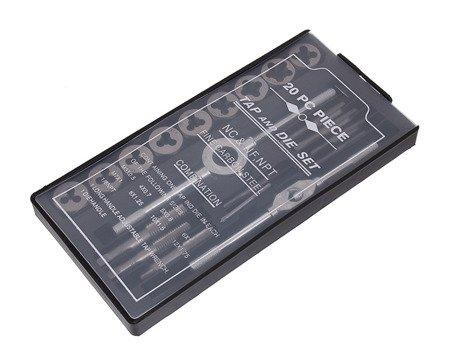Gwintowniki i narzynki Onex OX 606 Zestaw 20 elementów Kalibrowniki