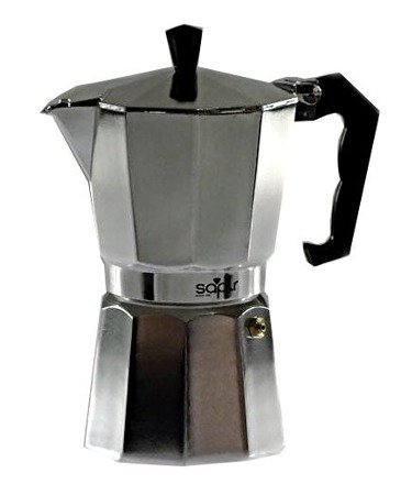 Kawiarka 600 ml ELM 504 kafetiera 12 ZAPARZACZ do kawy srebrna