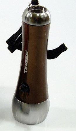 Latarka Tiross TS 1175 + szperacz aluminiowa latarki 21xLED brązowa