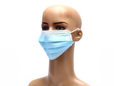 Maseczki ochronne jednorazowe 3-warstwowe higieniczne antywirusowe 100 szt
