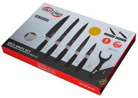 Noże kuchenne 6szt SWITZNER zestaw nóż SW005 BLKR