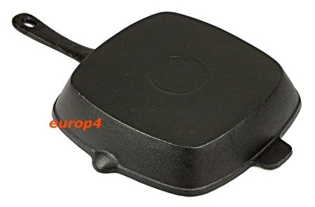 Patelnia EdelHoff EH 8546 ŻELIWNA 24x24 ciężka indukcja gaz grillowa