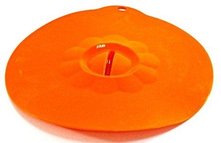 Pokrywka Kinghoff KH 4637 przykrywka SILIKONOWA do garnka patelni pomarańczowa