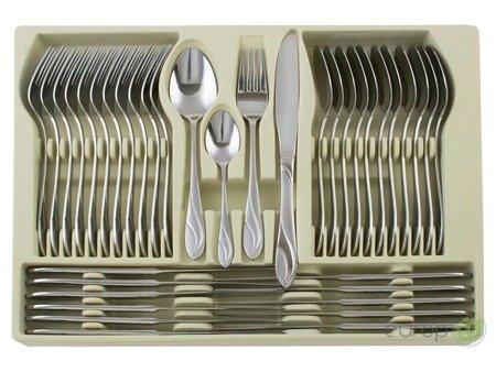 Sztućce Hoffner HF 2670 połysk walizka 72 elementy zestaw widelce łyżki