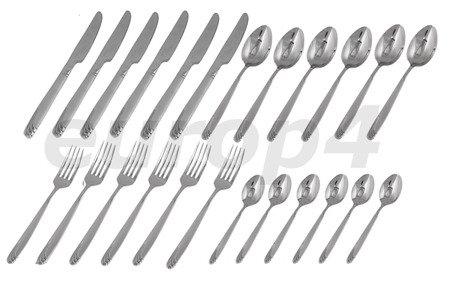 Sztućce Rivoli RV 6112 SATYNA zestaw komplet widelce łyżki noże