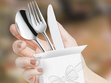 Sztućce do restauracji Amefa Livia Ronda 8036 24 szt dla 6 osób na wesela do domu