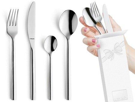 Sztućce obiadowe Amefa Carlton 1050 24 elementy dla 6 osób 18/0