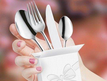 Sztućce restauracyjne Amefa Carlton 1050 24 elementy na wesele