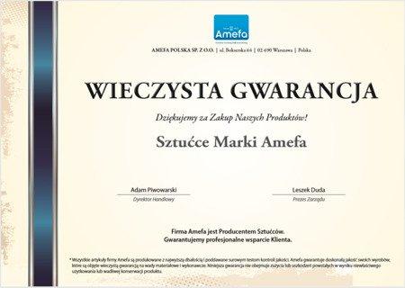 Sztućce ślubne Amefa Chopin 8420 w walizce zestaw 72 elementy na ślub
