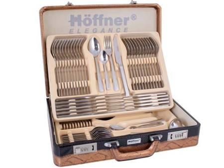 Sztućce w walizce Hoffner HF 2800 72 elementy 12 osób zestaw widelce+łyżki+walizka satyna