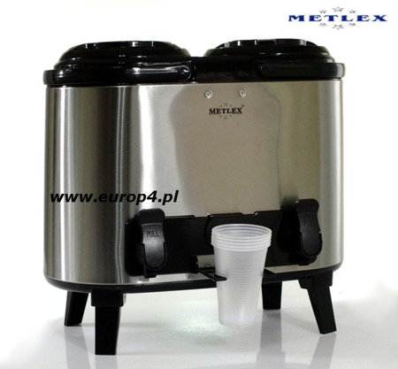 Termos Metlex MX 7416 2x7 l gastronomiczny cateringowy +kran