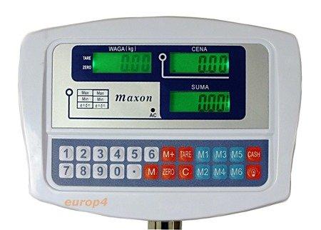 Waga Maxon SKLEPOWA MAGAZYNOWA elektroniczna 150 kg MX 1026