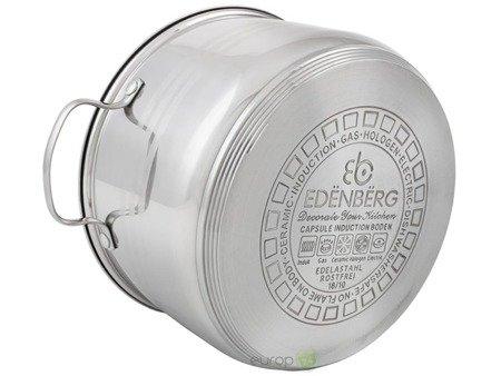 Zestaw garnków Edenberg EB 4072 Garnki stalowe indukcyjne z rondlem w komplecie