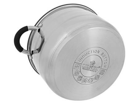 Zestaw garnków Zilner ZL 8110 garnki stalowe indukcyjne