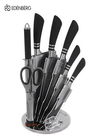 Zestaw noży kuchennych Edenberg EB 905 stalowe stojak noże metalowe